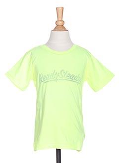 T-shirt manches courtes jaune TUMBLE'DRY pour garçon