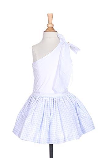 Robe mi-longue bleu CHUA pour fille