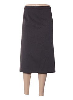 Jupe mi-longue marron FASHION COLLECTION pour femme