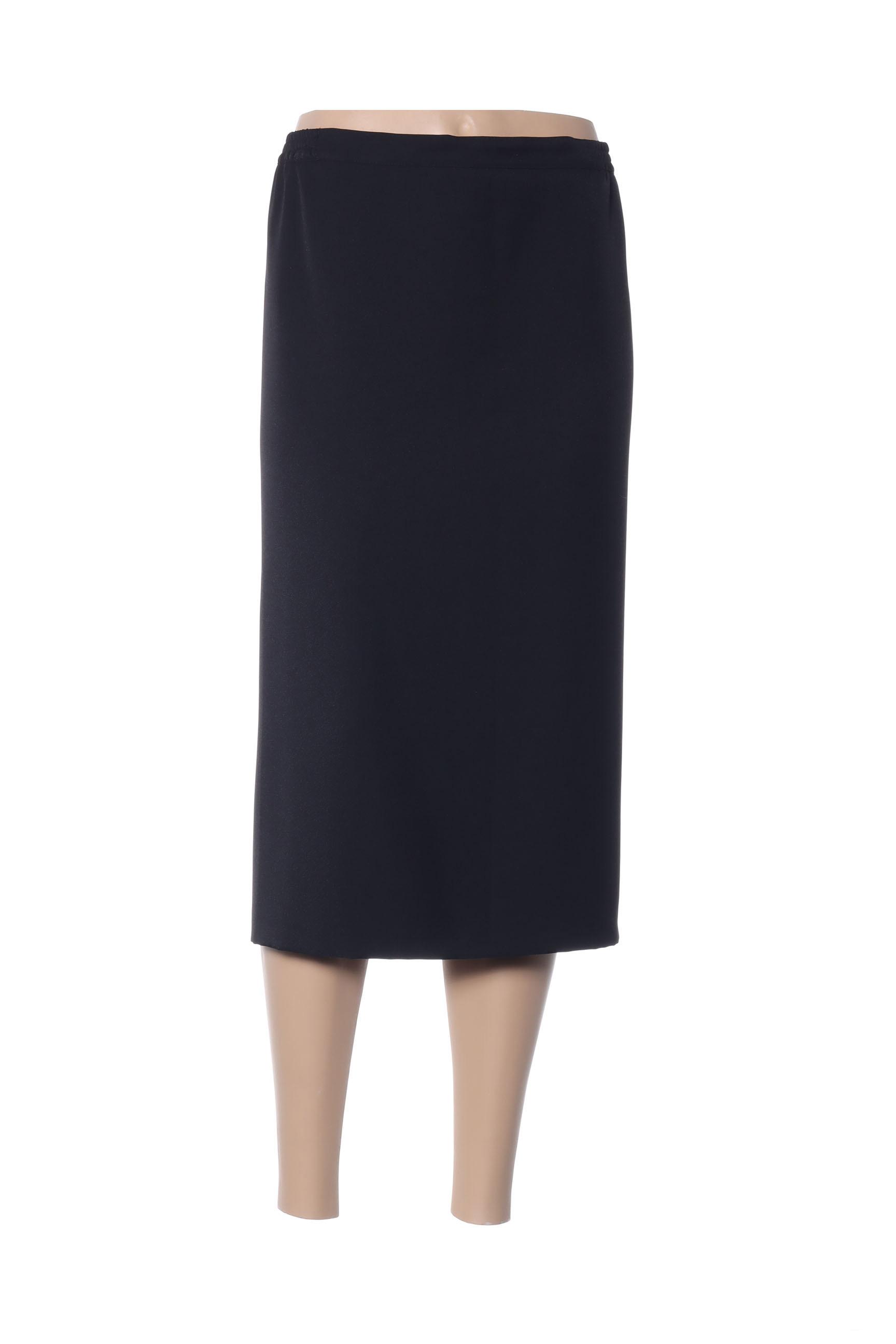 Fashion Collection Jupes Mi Longues Femme De Couleur Noir En Soldes Pas Cher 1425524-noir00