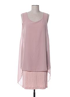 Robe mi-longue rose GAOS pour femme
