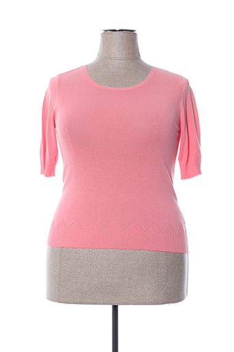 Pull col rond rose NICE THINGS pour femme