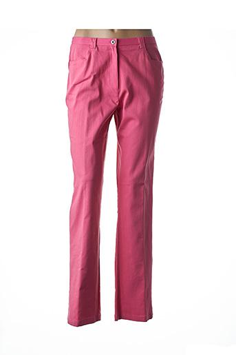 Pantalon casual rose FRANCOISE DE FRANCE pour femme