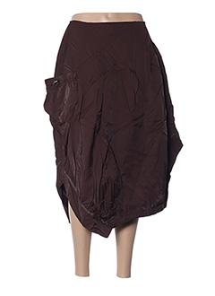 Jupe mi-longue marron FRANSTYLE pour femme