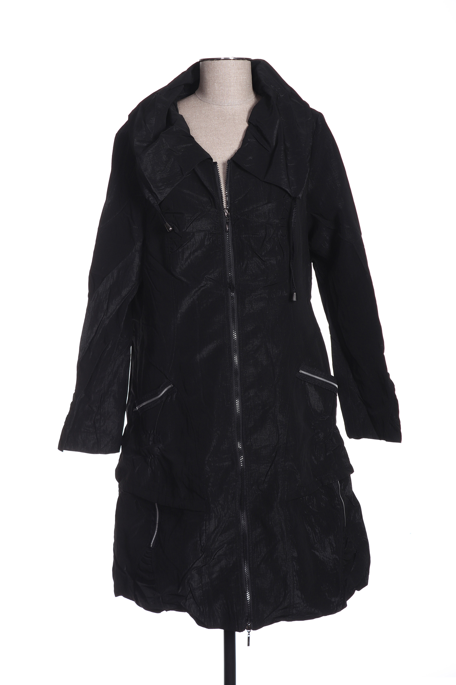Manteau long femme Franstyle noir taille : 40 24 FR (FR)