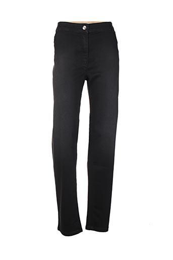 Jeans coupe slim noir ELENA MIRO pour femme
