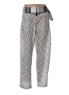 Pantalon casual beige ZOE LA FEE pour femme