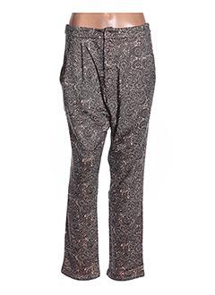 Pantalon casual marron ZOE LA FEE pour femme