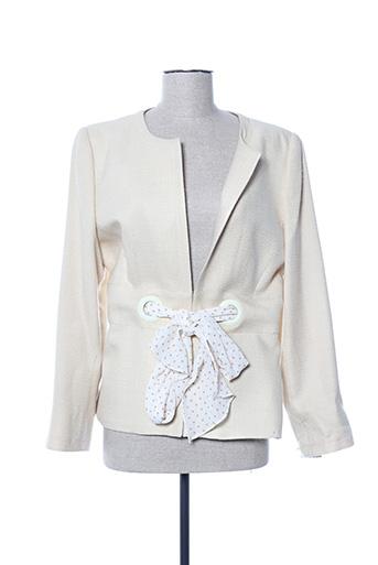 Veste chic / Blazer beige ALOUETTE pour femme