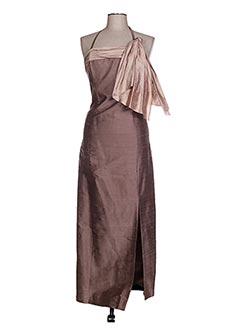 Robe longue marron CLAIRMODEL pour femme
