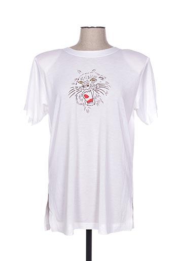 T-shirt manches courtes blanc BUGARRI pour femme