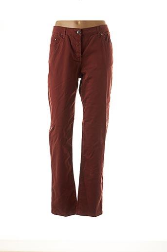 Pantalon casual marron CARLA KOPS pour femme
