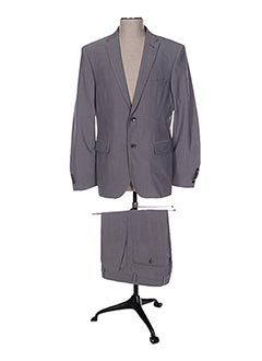 Costume de ville gris BRUNO SAINT HILAIRE pour homme