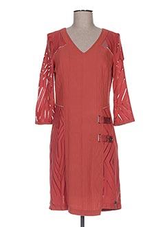 Robe courte orange ET COMPAGNIE pour femme