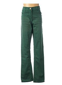 Jeans coupe droite vert 3 POMMES pour fille