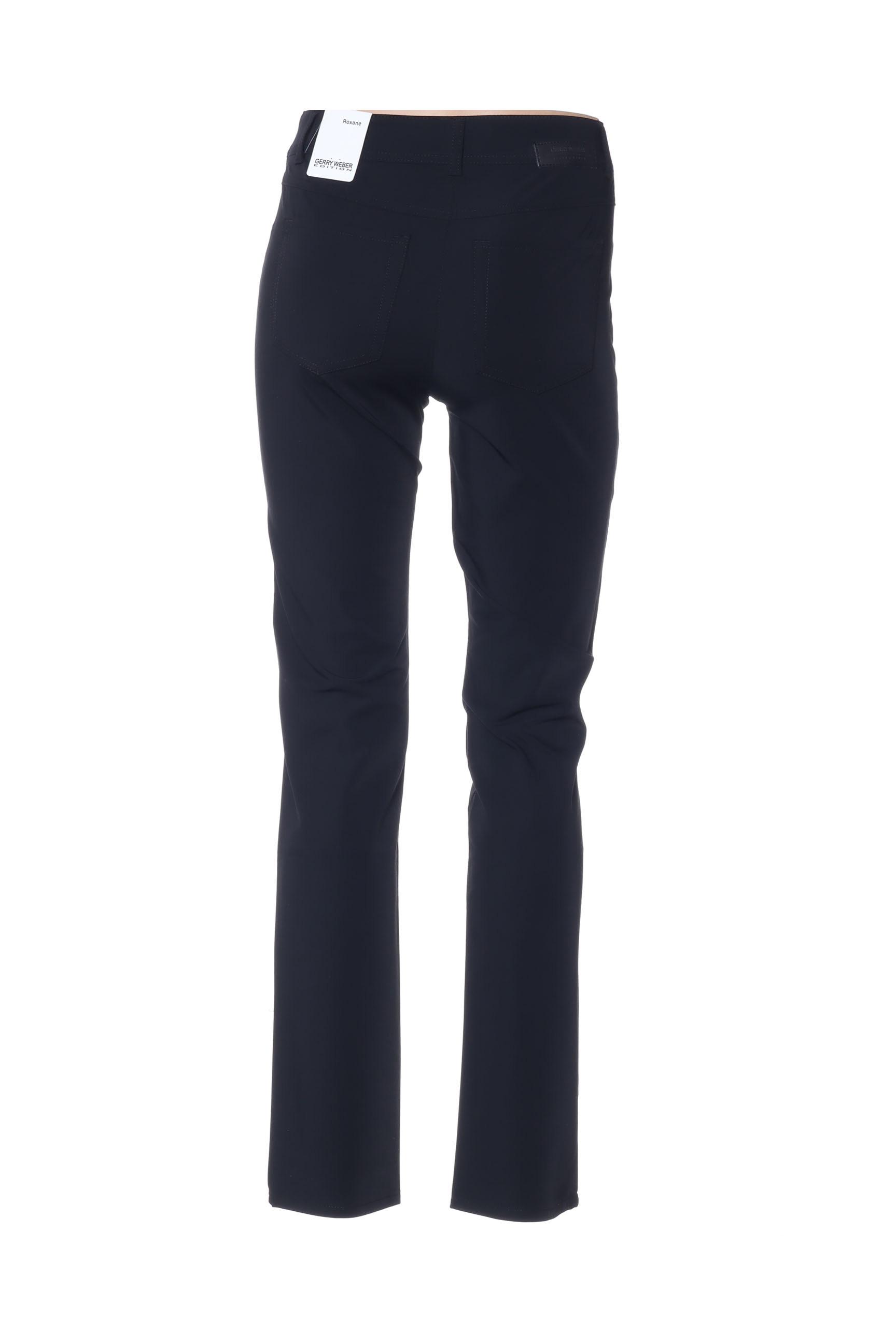 Gerry Weber Pantalons Decontractes Femme De Couleur Noir En Soldes Pas Cher 1426778-noir00