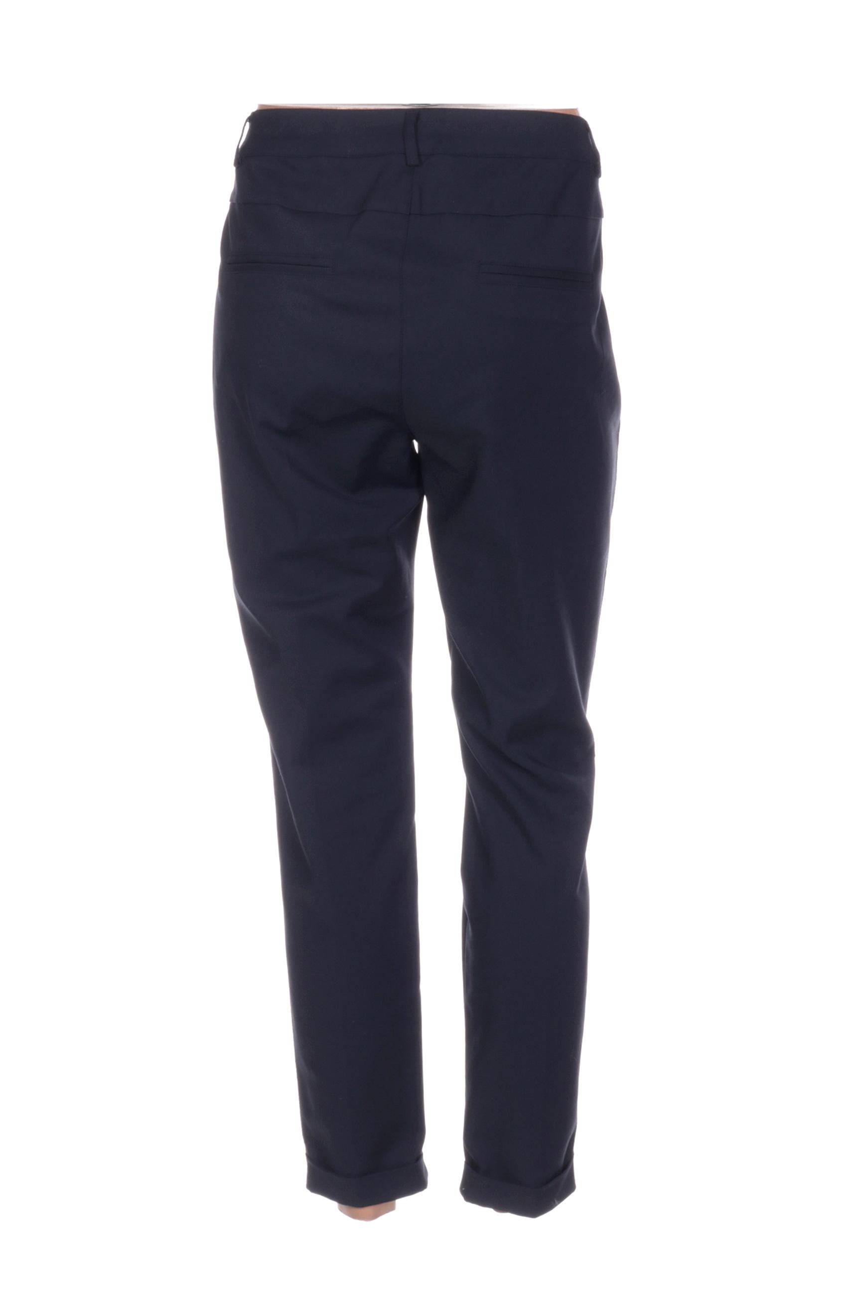 Cream Pantalon7 8 Femme De Couleur Bleu En Soldes Pas Cher 1421816-bleu00