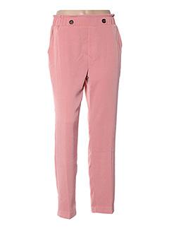 Pantalon casual rose GRACE & MILA pour femme
