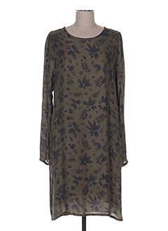 Robe mi-longue vert HARTFORD pour femme