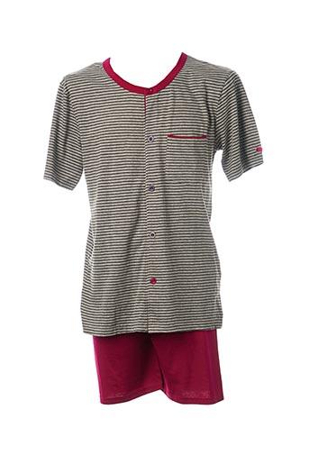 Pyjashort gris ROSE POMME pour homme