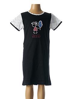 Chemise de nuit noir ROSE POMME pour fille