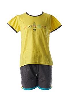 Pyjashort jaune ROSE POMME pour fille
