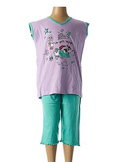 Pyjashort violet ROSE POMME pour fille