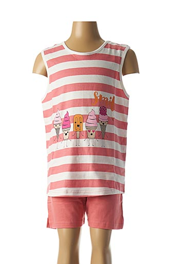 Pyjashort rose ROSE POMME pour fille