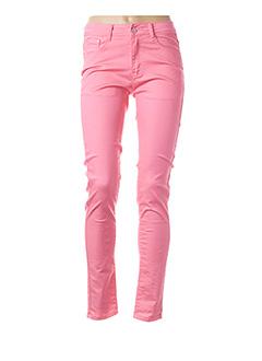 Pantalon casual rose B.S JEANS pour femme