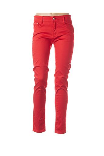 Pantalon casual rouge B.S JEANS pour femme