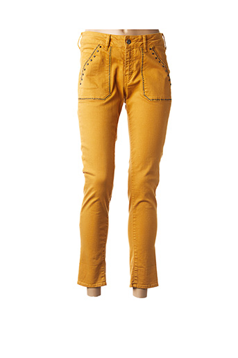 Pantalon casual jaune FIVE pour femme