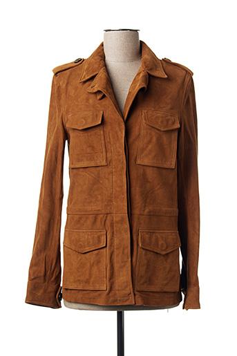 Veste en cuir marron ANNA... pour femme