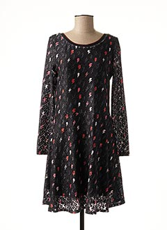 Robe mi-longue noir MIA SOANA pour femme