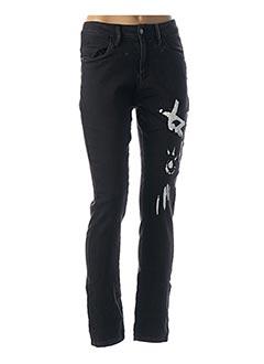 Jeans coupe slim noir MIA SOANA pour femme