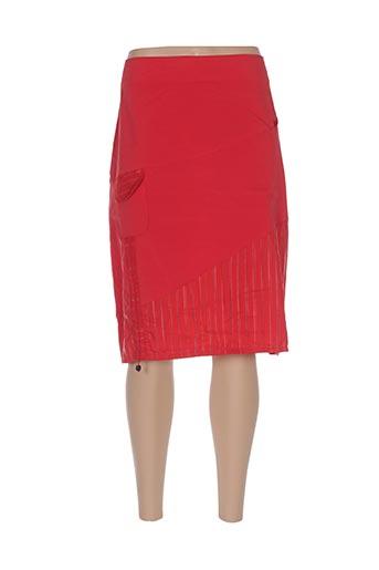 Jupe mi-longue rouge CHRISMAS'S pour femme