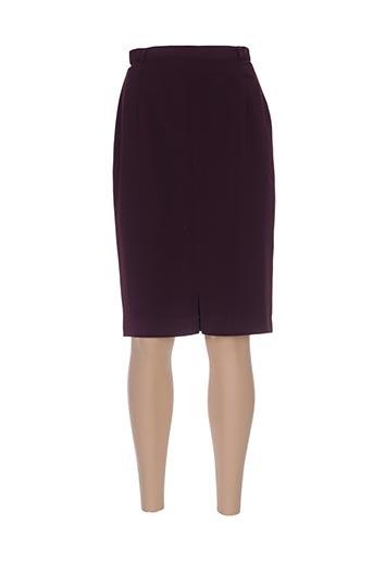 Jupe mi-longue violet CAROLE RICHARD pour femme