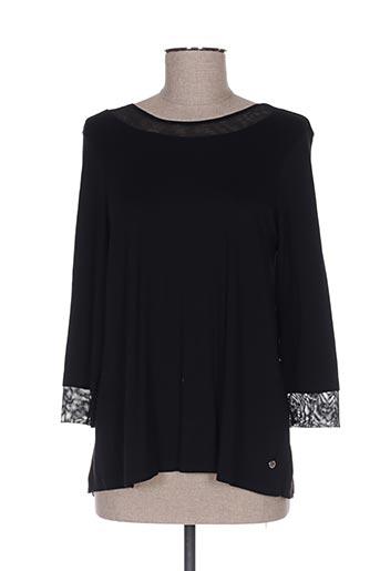 T-shirt manches longues noir COTE ANGLAISE pour femme