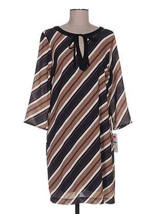 Robe mi-longue marron FARUK pour femme