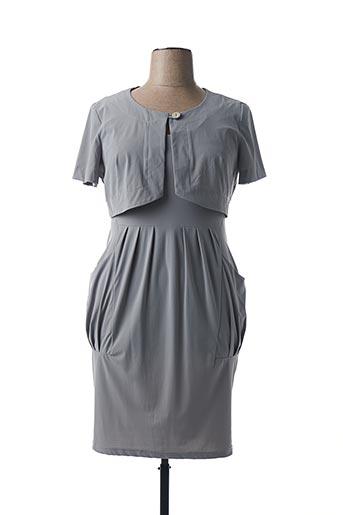Veste/robe gris HUGAN'CO pour femme