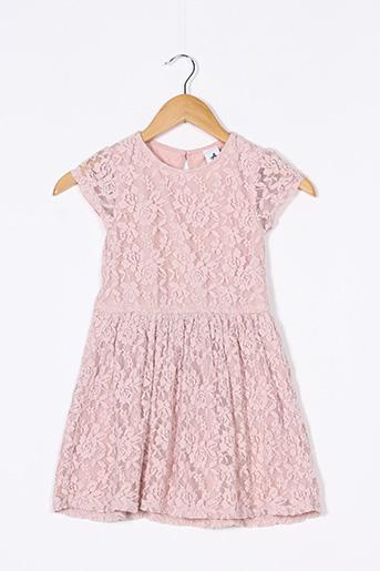 Robe mi-longue rose C&A pour fille