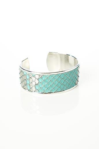 Bracelet Manchette bleu OPALE pour femme