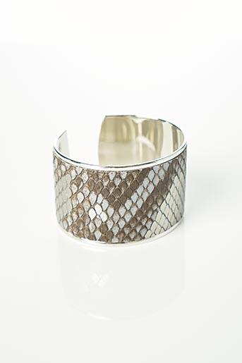 Bracelet Manchette gris OPALE pour femme