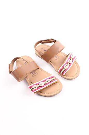 Sandales/Nu pieds marron CREEKS pour fille