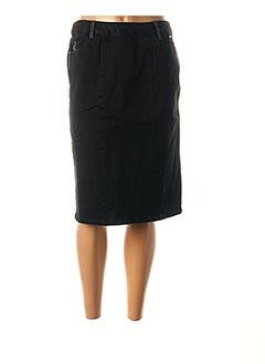 Jupe mi-longue noir AGATHE & LOUISE pour femme