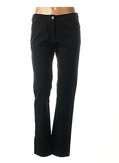Pantalon casual noir AGATHE & LOUISE pour femme