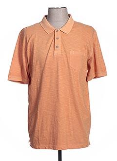 Polo manches courtes orange CALAMAR pour homme