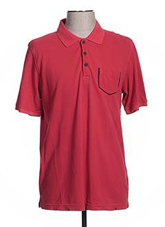 Polo manches courtes rouge CALAMAR pour homme