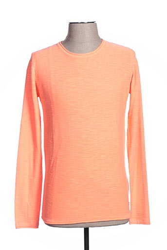 Pull col rond orange GAUDI pour homme