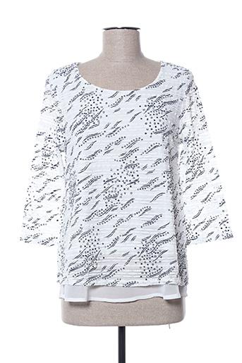T-shirt manches longues blanc CHRISTINE LAURE pour femme