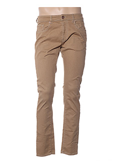 Jeans coupe droite beige PETROL INDUSTRIES pour homme